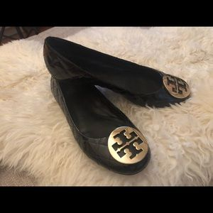 Tory Burch Quinn Quilted Patent Flats